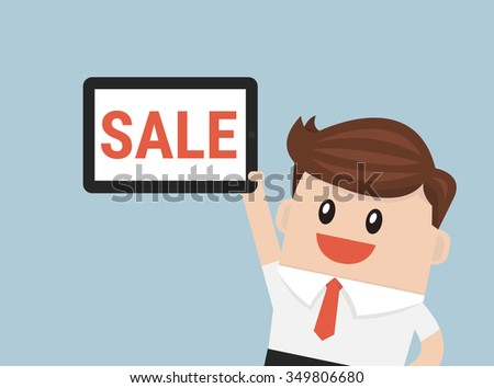 Businessman sale - stock vector