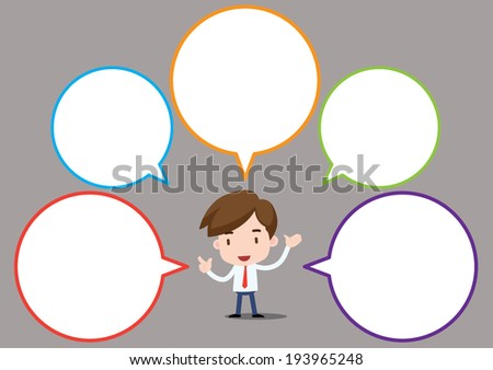 businessman series - speech bubble - stock vector