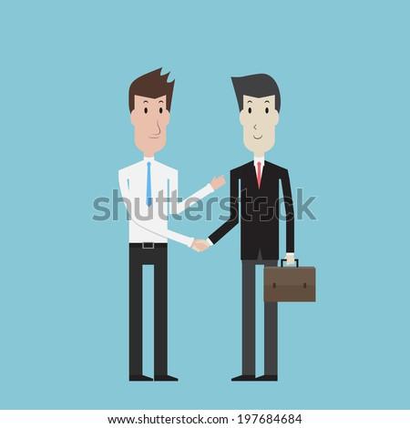 Businessman shaking hands - Vector - stock vector