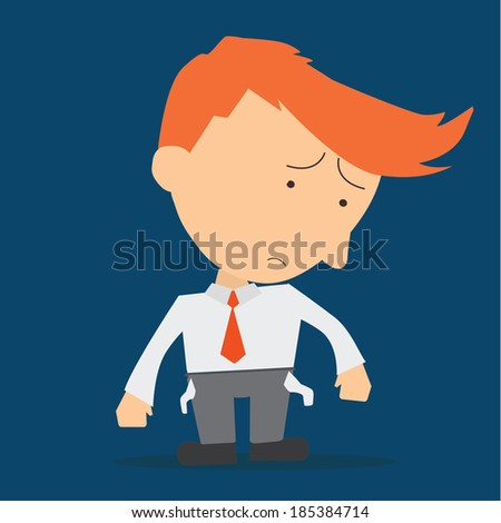 businessman showing he has no money - stock vector