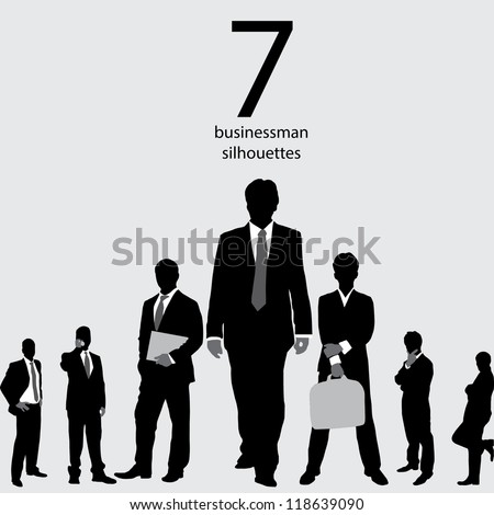 Businessman Silhouettes - stock vector