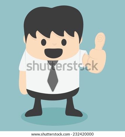 Businessman thumbs - stock vector