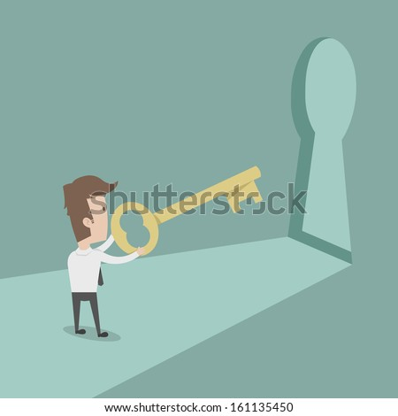 Businessman to success , eps10 vector format - stock vector