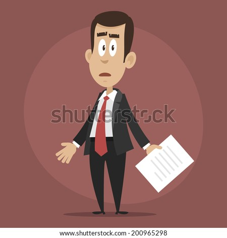 Businessman upset and confused - stock vector