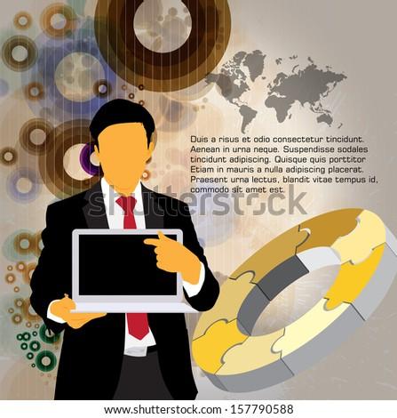 Businessman. Vector - stock vector