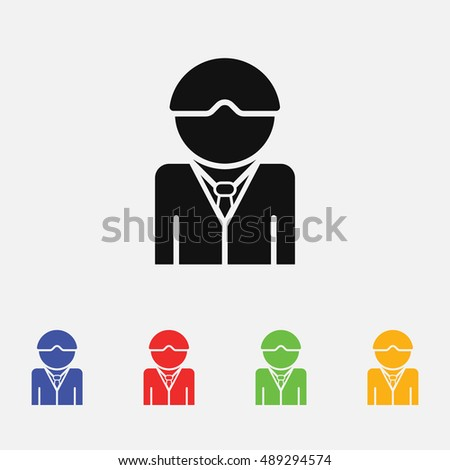Occupations Avatar Set Judge Policeman Fireman Stock
