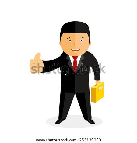 Businessman. vector illustration  - stock vector