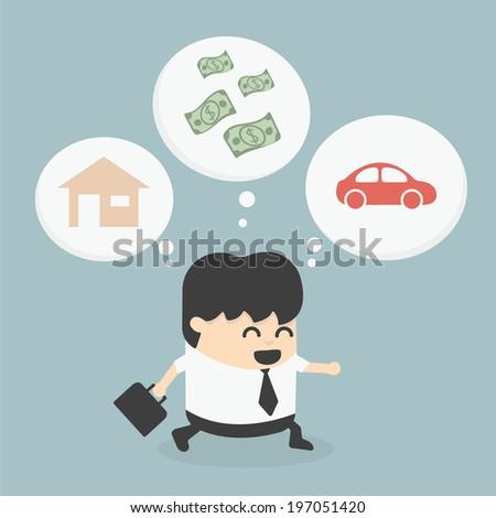 Businessman Walking dream - stock vector