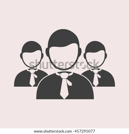 Businessman web icon. Isolated illustration