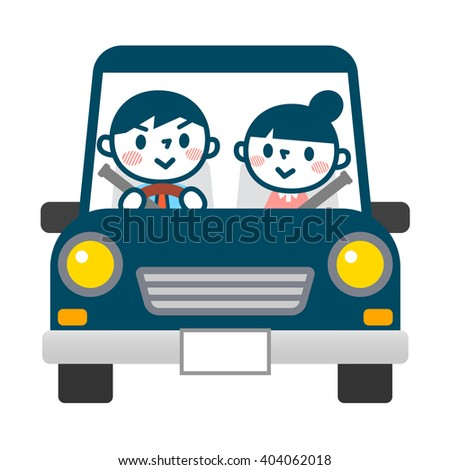 Businessman while driving - stock vector