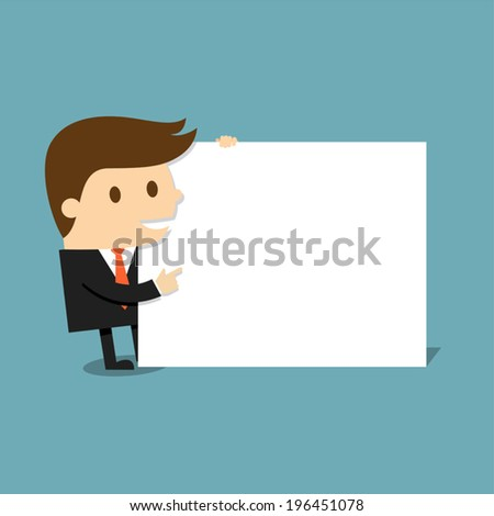 Businessman with blank paper  - stock vector
