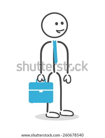 Businessman with briefcase and tie  - stock vector