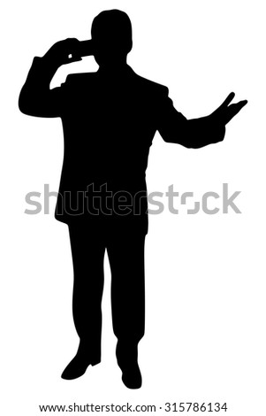 businessman with cellphone talking