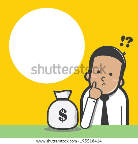 Businessman with financial planning - vector