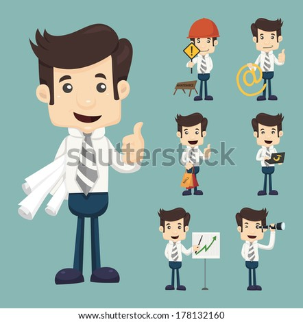 Businessman working , eps10 vector format