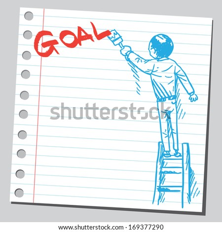 Businessman write word GOAL