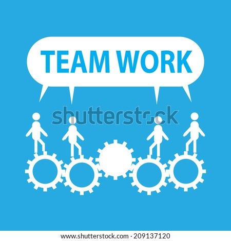 Businessmans in team work concept in vector format