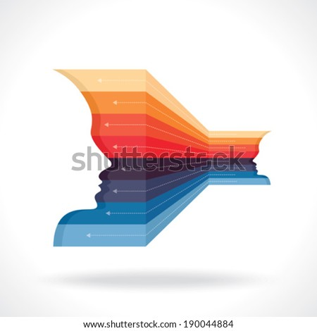 Businessmen and Exchange of Ideas - Illustration - stock vector
