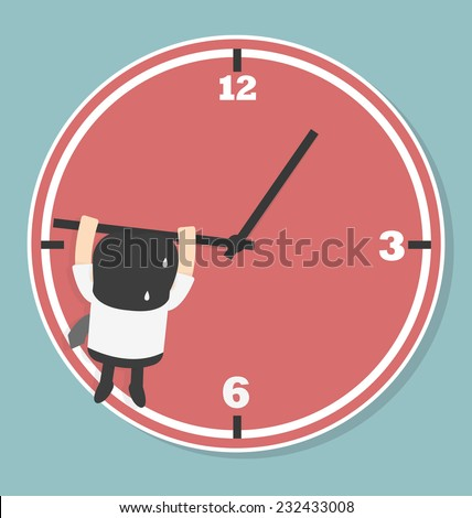 Businessmen are falling from the arrow of time - stock vector