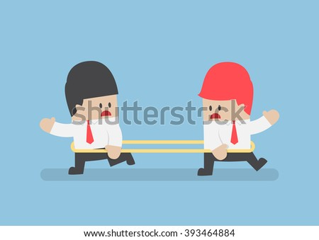 Businessmen are walking to the opposite direction from each other, VECTOR, EPS10 - stock vector