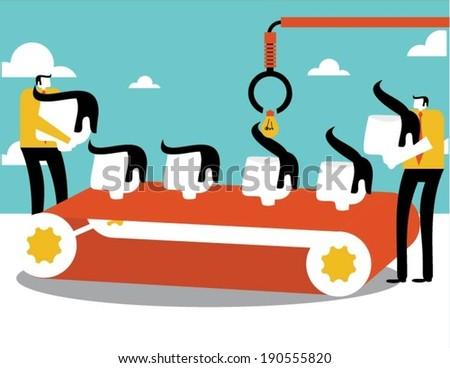 Businessmen creation - stock vector