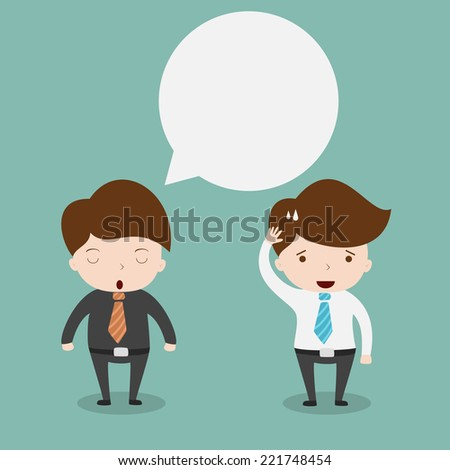 Businessmen discussing.Vector EPS10. - stock vector