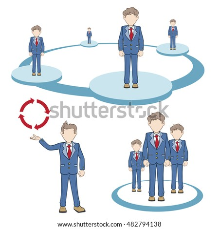 Businessmen groups and team network