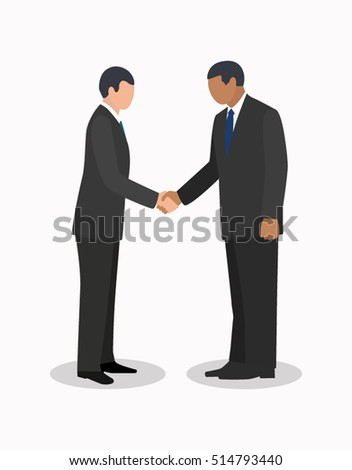 businessmen handshake meeting acquaintance
