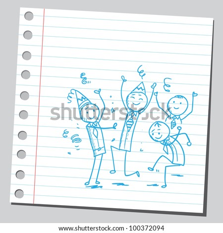 Businessmen having party - stock vector