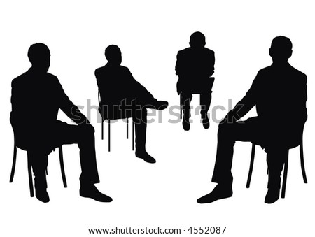 businessmen on the chair