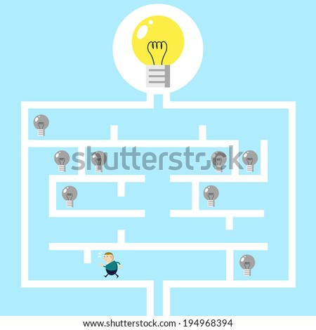 Businessmen success and idea - stock vector