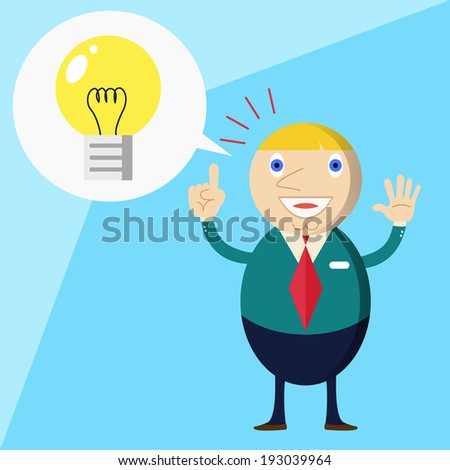 Businessmen talking about success and idea - stock vector