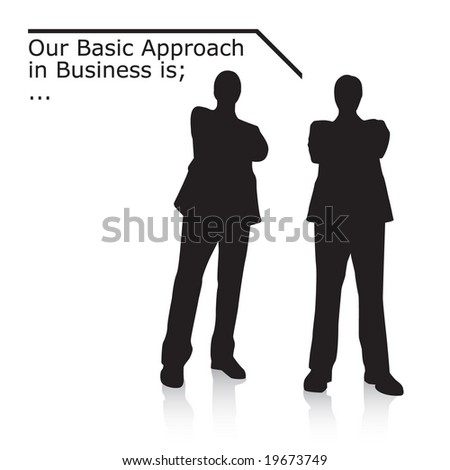Businessmen. Vector. - stock vector