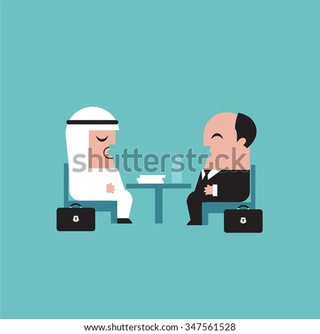 Businessmen vector illustration - stock vector