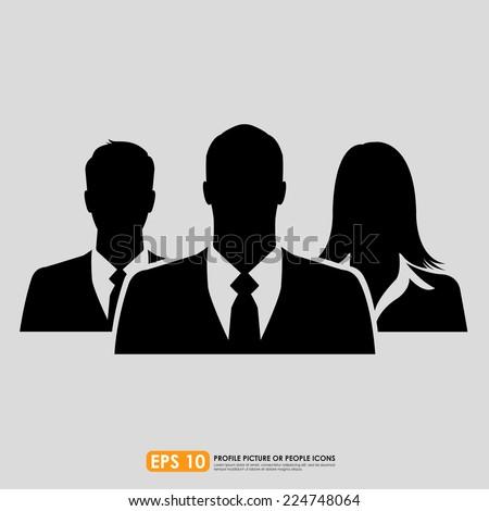 Businesspeople icon - stock vector