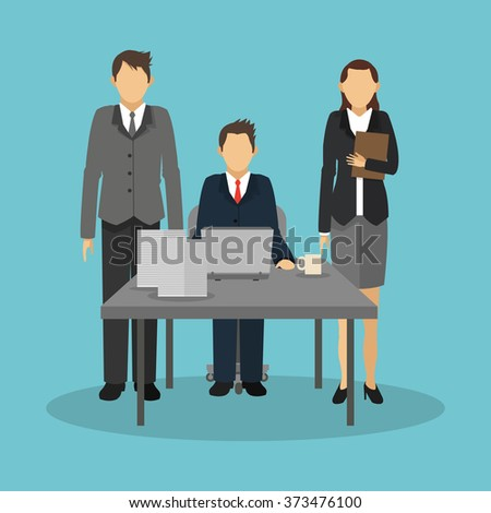 Businesspeople icon design
