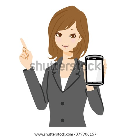 Businesswoman and smartphone.