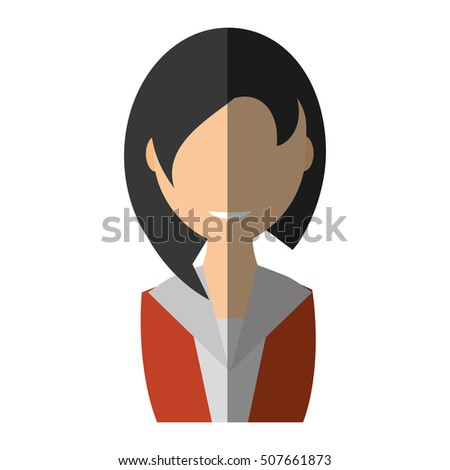 businesswoman avatar elegant isolated icon vector illustration design