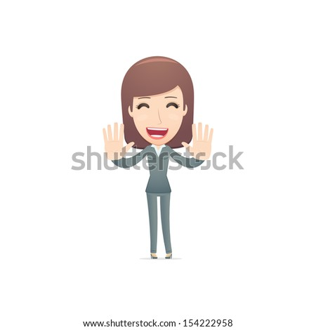 businesswoman in various poses for use in advertising, presentations, brochures, blogs, documents and forms, etc. - stock vector