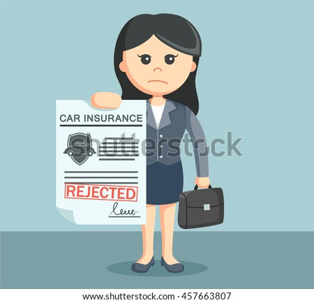 businesswoman with rejected car insurance
