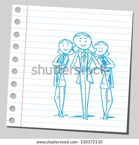 Businesswomen team - stock vector
