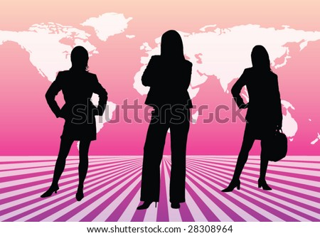 Businesswomen team
