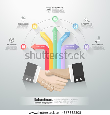 Bussiness concept infographic 6 steps. can be used for workflow layout, diagram, number options, timeline - stock vector