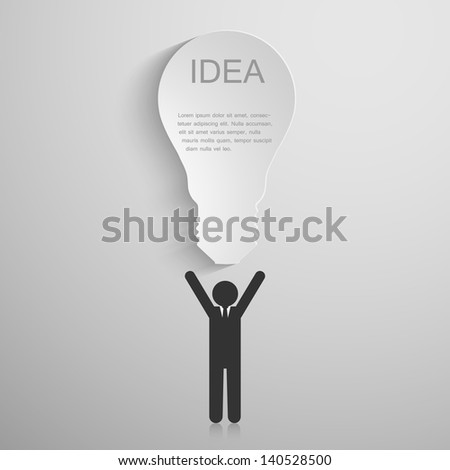 Bussiness idea background- vector - stock vector