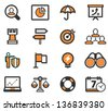 Bussiness Strategy Icon Set - stock photo