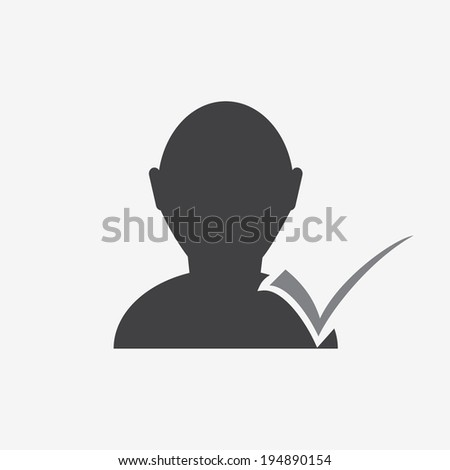 bust icon - stock vector