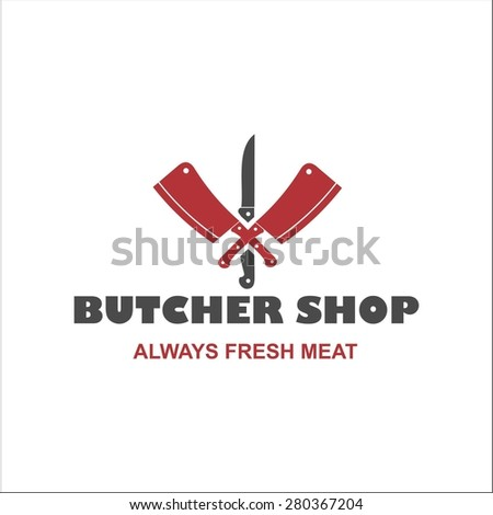 Butcher shop - stock vector
