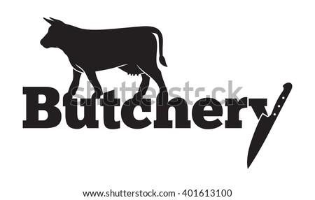 Butchery vector icon - stock vector