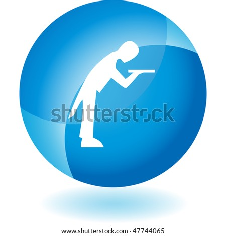 Butler icon isolated on a white background.