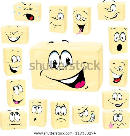 butter cartoon isolated on white background - stock vector